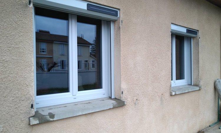 Fenêtre deux vantaux en pvc gris 7035